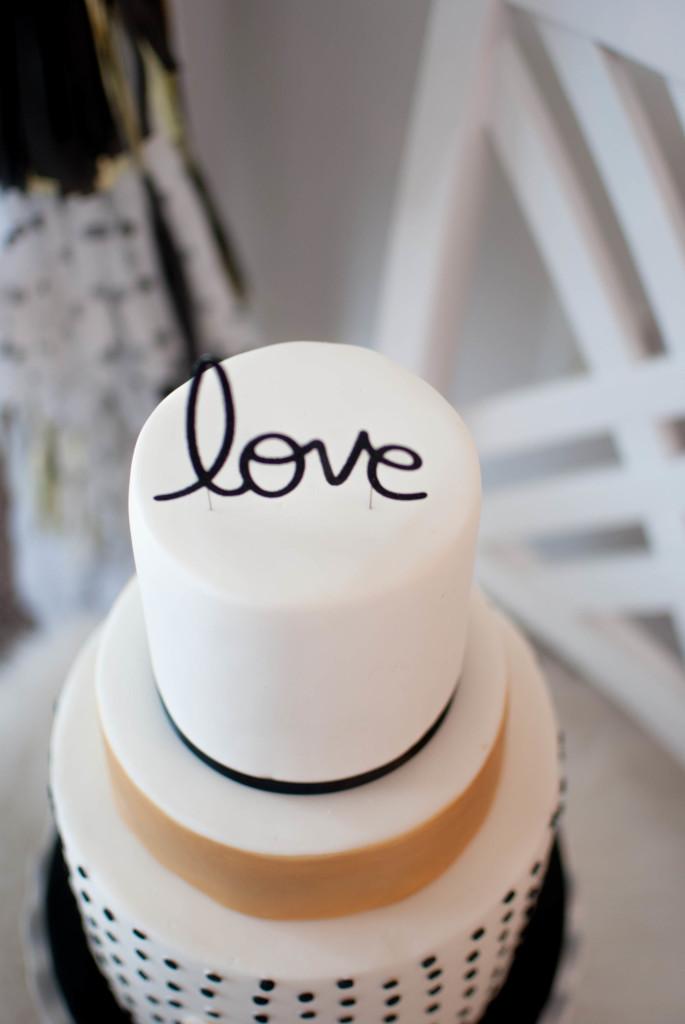 Modern Valentine's Day Cake