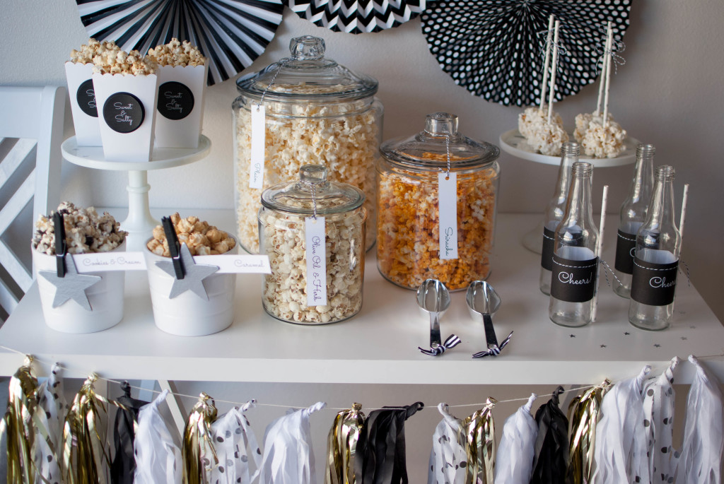 Oscar Party Popcorn Bar