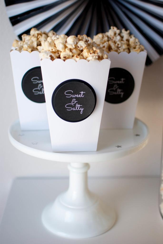 Oscar Popcorn Bar Party Ideas