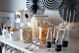 {The Oscar Party} Popcorn Bar Ideas