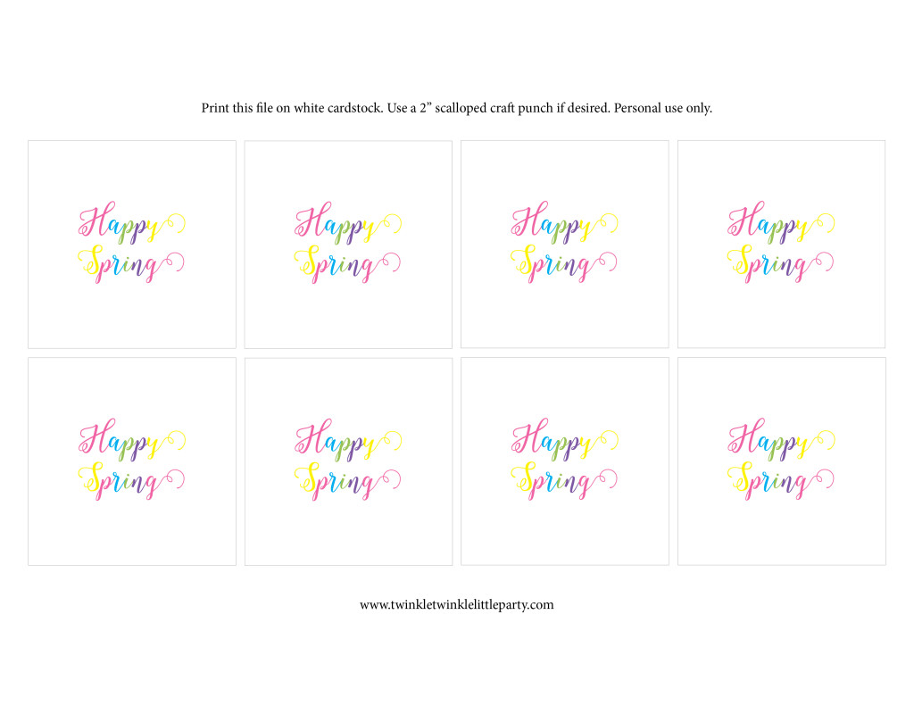 Free Happy Spring Tags