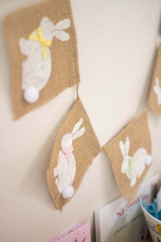 Custom Easter Bunny Burlap Garland