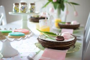 Easter Dinner Tablescape