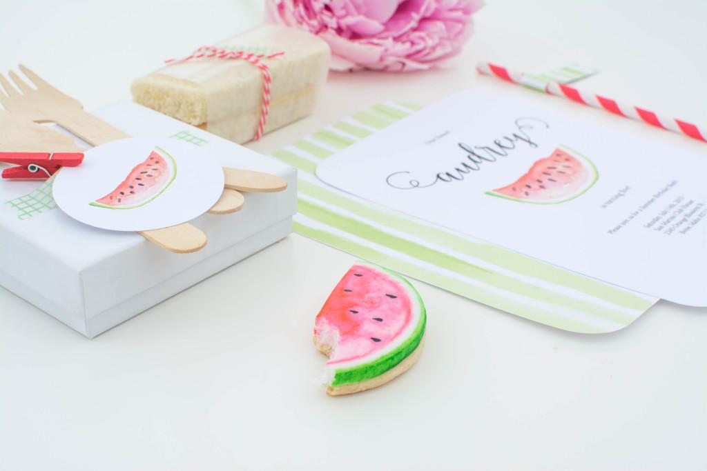 watermelon party invitation