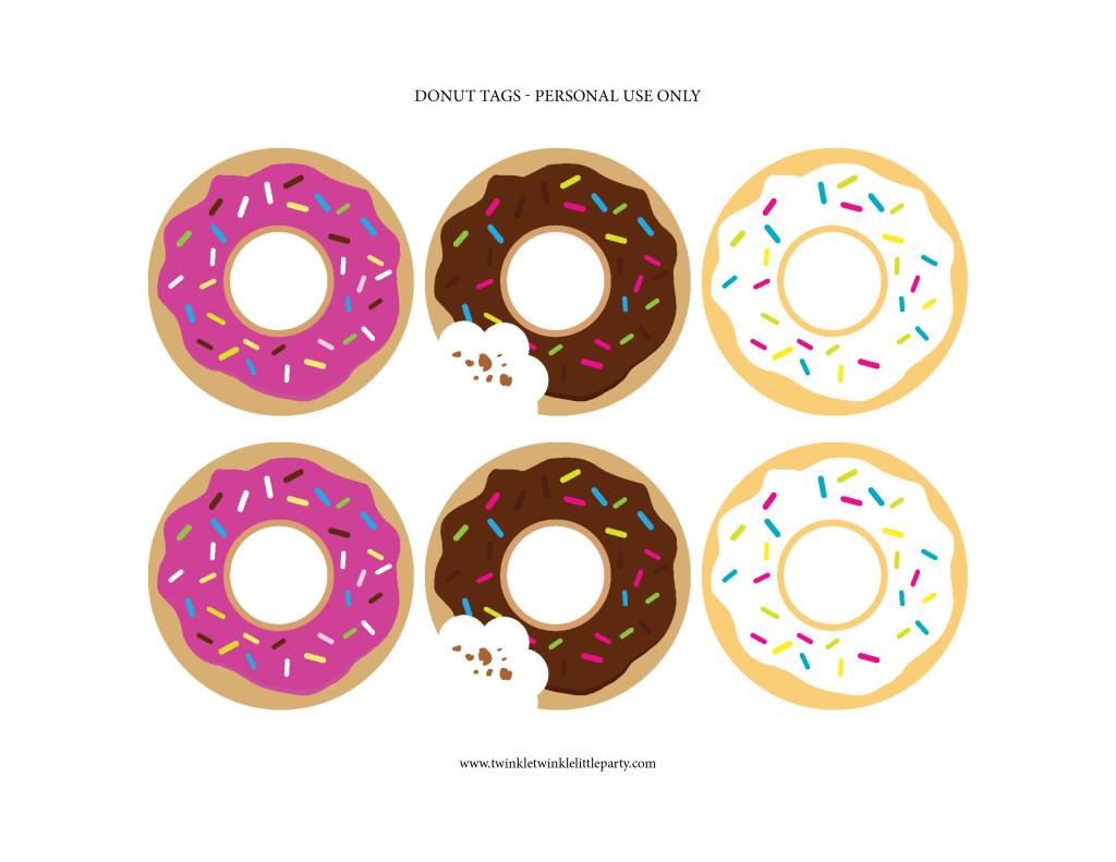 free donut tags _ twinkletwinklelittleparty