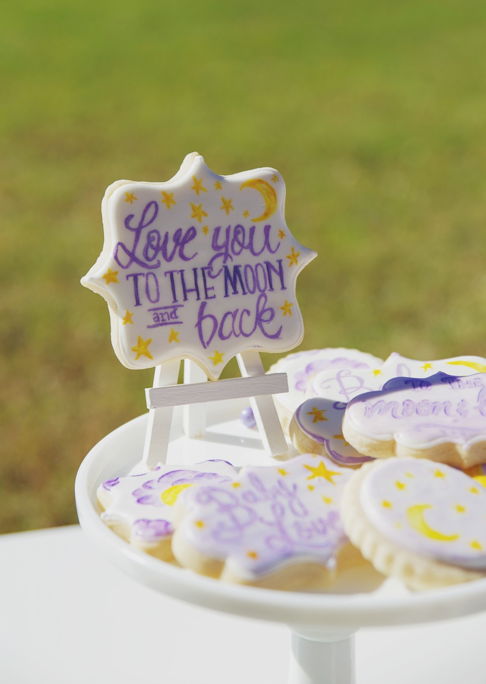 baby shower  love you to the moon and back