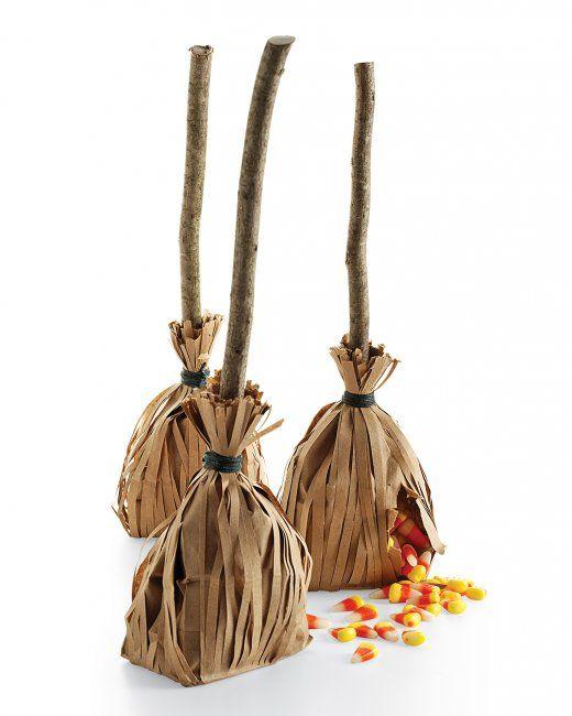 Halloween Witch's broom favors