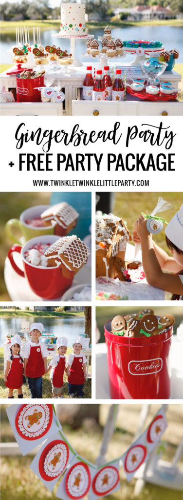 Gingerbread Party Ideas + FREE Party Package