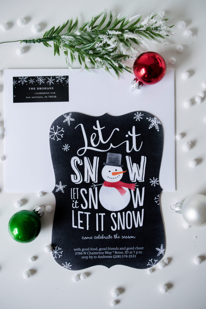 Let It Snow Holiday Party Invitation