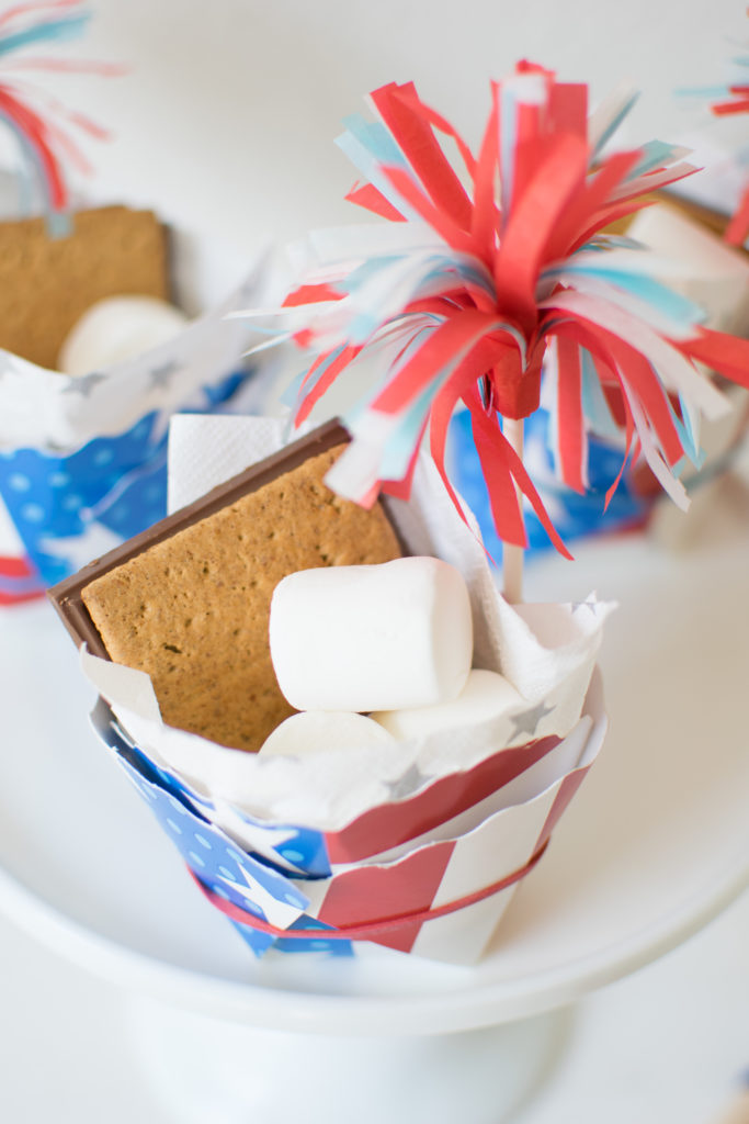 DIY 4th of July S'mores Cups
