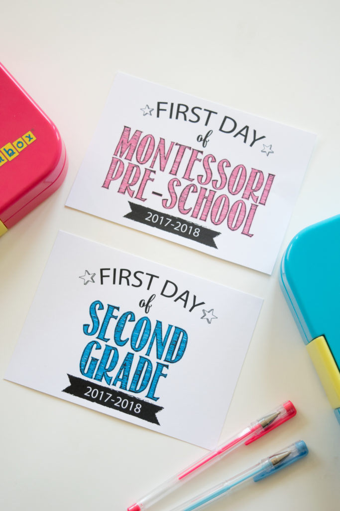 Back to School First Day of School Photo Signs