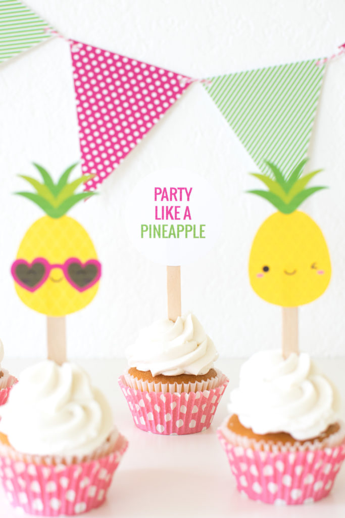 image about Free Printable Pineapple named Social gathering which includes a Pineapple Bash Tips + Free of charge printables