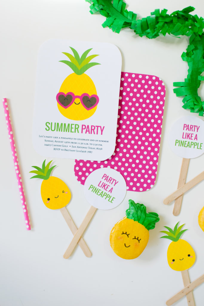 picture relating to Free Printable Pineapple named Get together which include a Pineapple Occasion Recommendations + Absolutely free printables