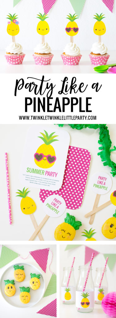 'Party like a Pineapple' ideas + Free Printables