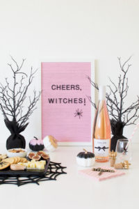 How to host a Halloween Inspired Wine & Cheese Girls' Night In Party