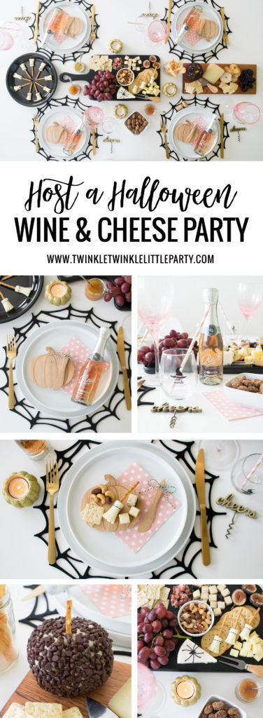 How to host a Hallowen Inspired Wine & Cheese Girls' Night In Party