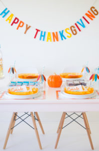 Kids Thanksgiving Table & a Bar That Saves Lives