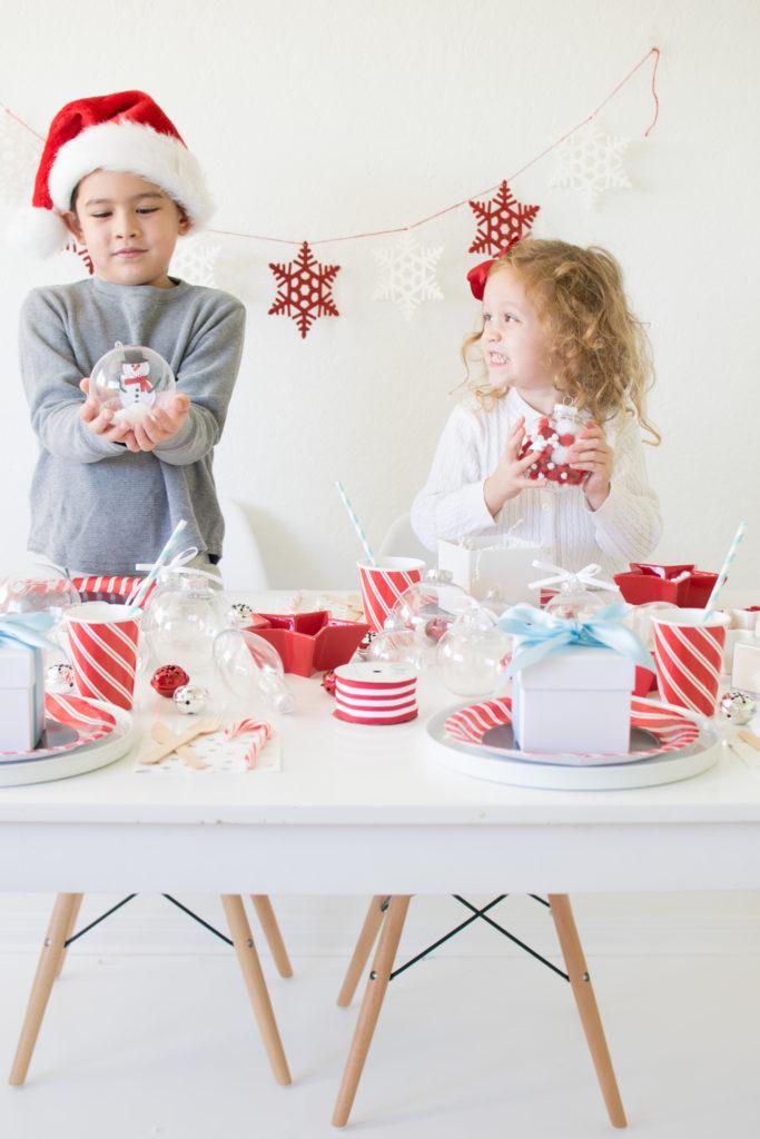 Diy Christmas Ornament Making Birthday Party Ideas