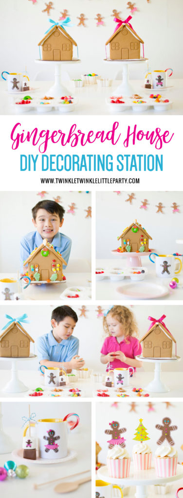 Surprise the kids with a Gingerbread House Decorating Station this holiday season