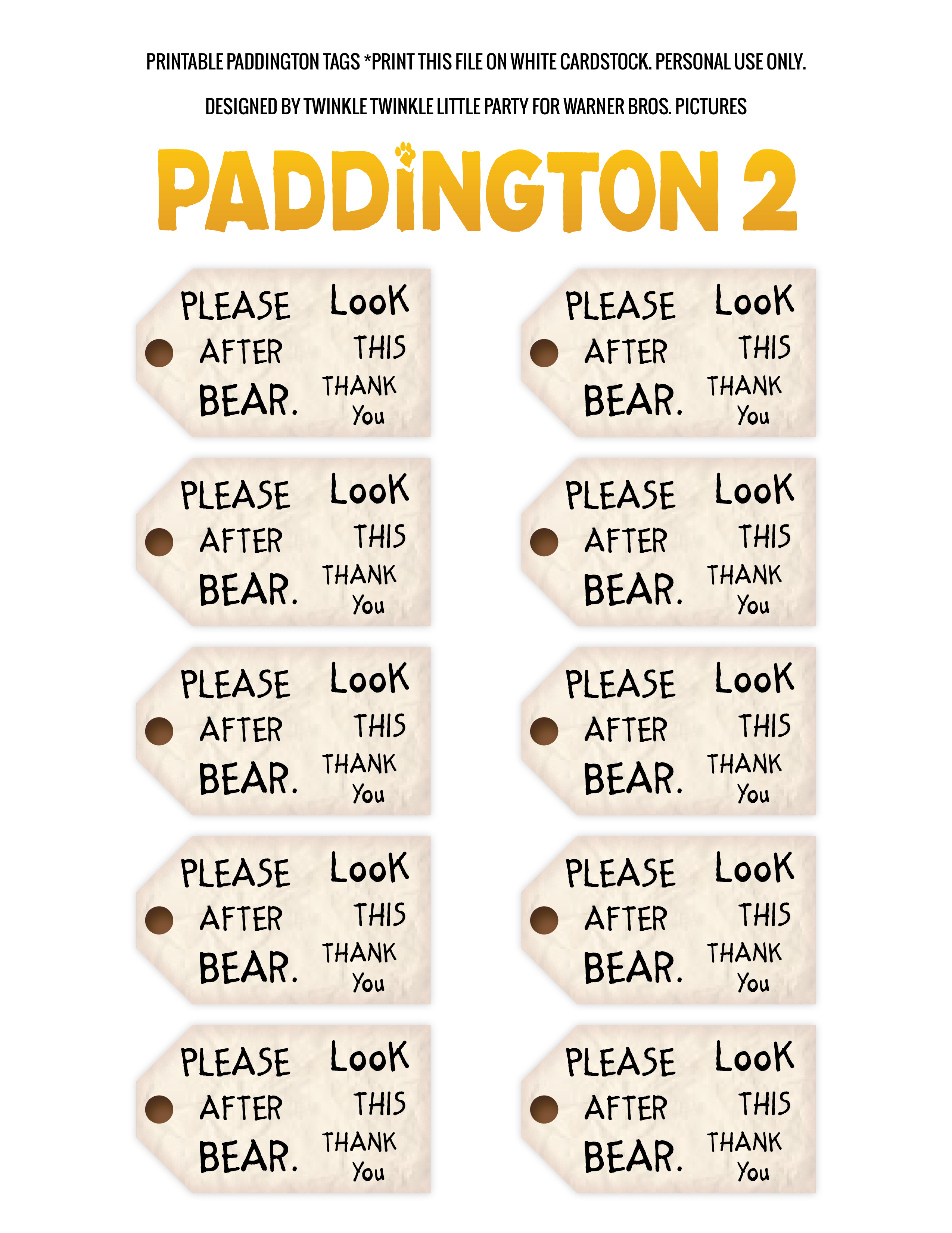 Throw A Paddington Themed Party
