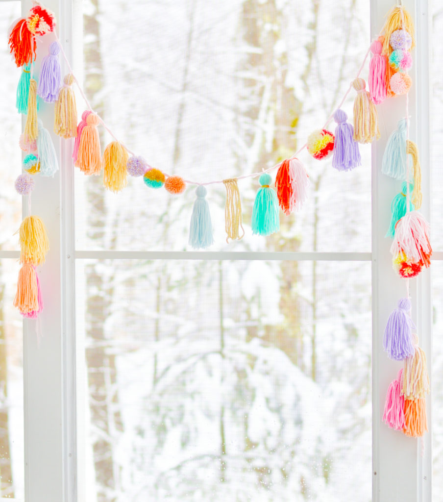 Andressa's Favorite Pom Pom and Yarn Tassel Decor