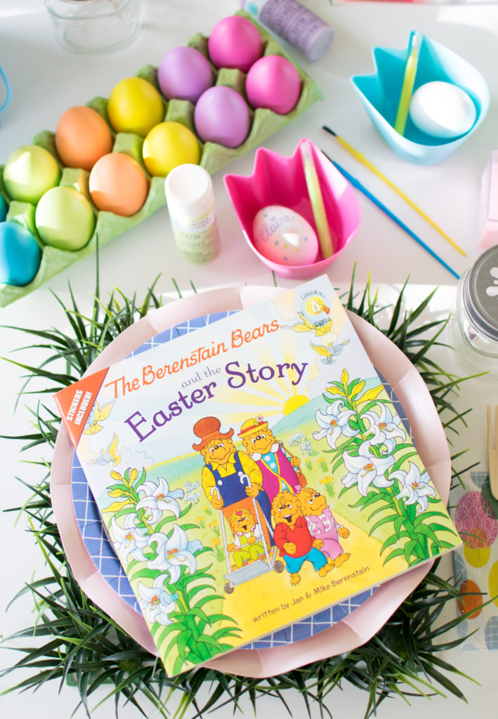 Kids Easter Egg Decorating with The Berenstain Bears