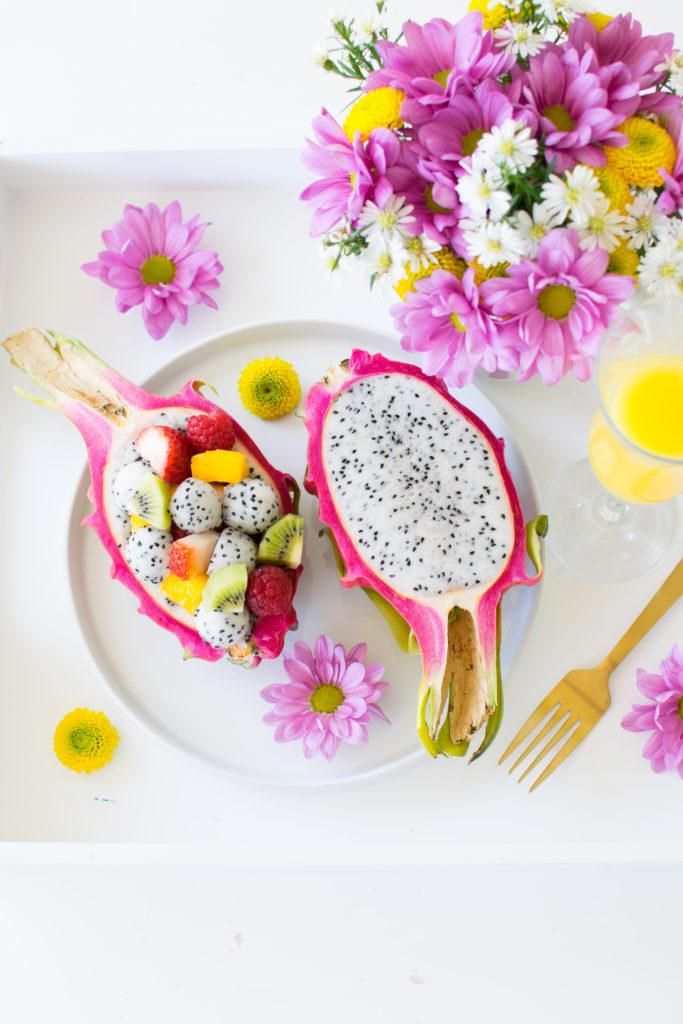 How to make Dragon Fruit Salad Bowl