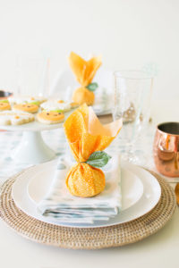 DIY Citrus Baby Shower Favor Tutorial - A Little Cutie is on the way Baby Shower by lifestyle/party blogger Andressa Hara of Twinkle Twinkle Little Party