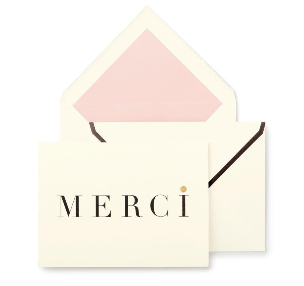 Kate Spade Thank you Merci Cards - Fabulous Mother's Day Gift ideas