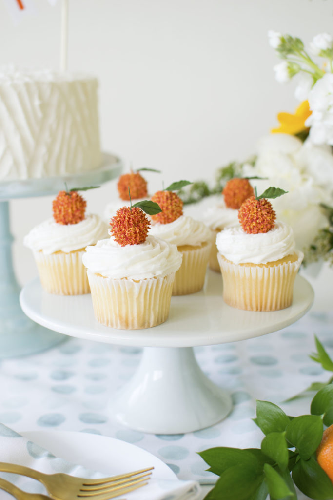 DIY Citrus Cupcake Toppers for a Summer Baby Shower