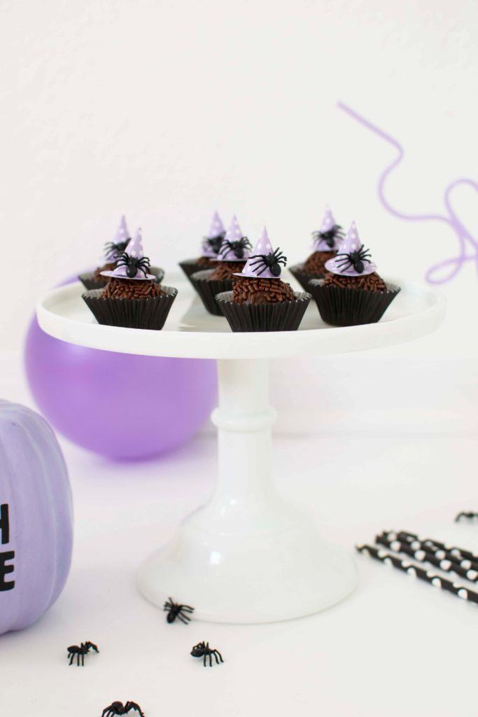 Little Witch's Hat Halloween Chocolate Fudge Balls