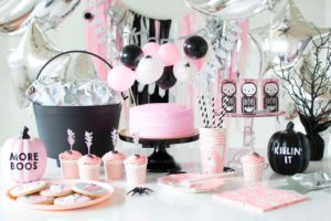 A Not-So-Spooky Pink Halloween Party