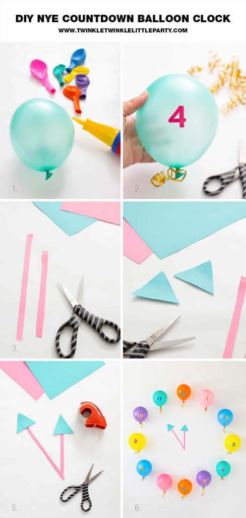 DIY New Year's Eve Countdown Balloon Clock
