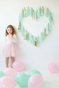 DIY Tassel Heart Backdrop