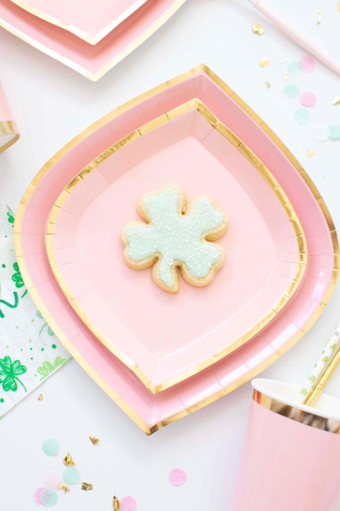 Saint Patrick's Day Shamrock Sugar Cookies