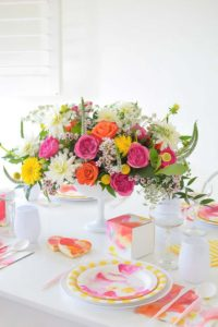 A Watercolor Inspired Tablescape