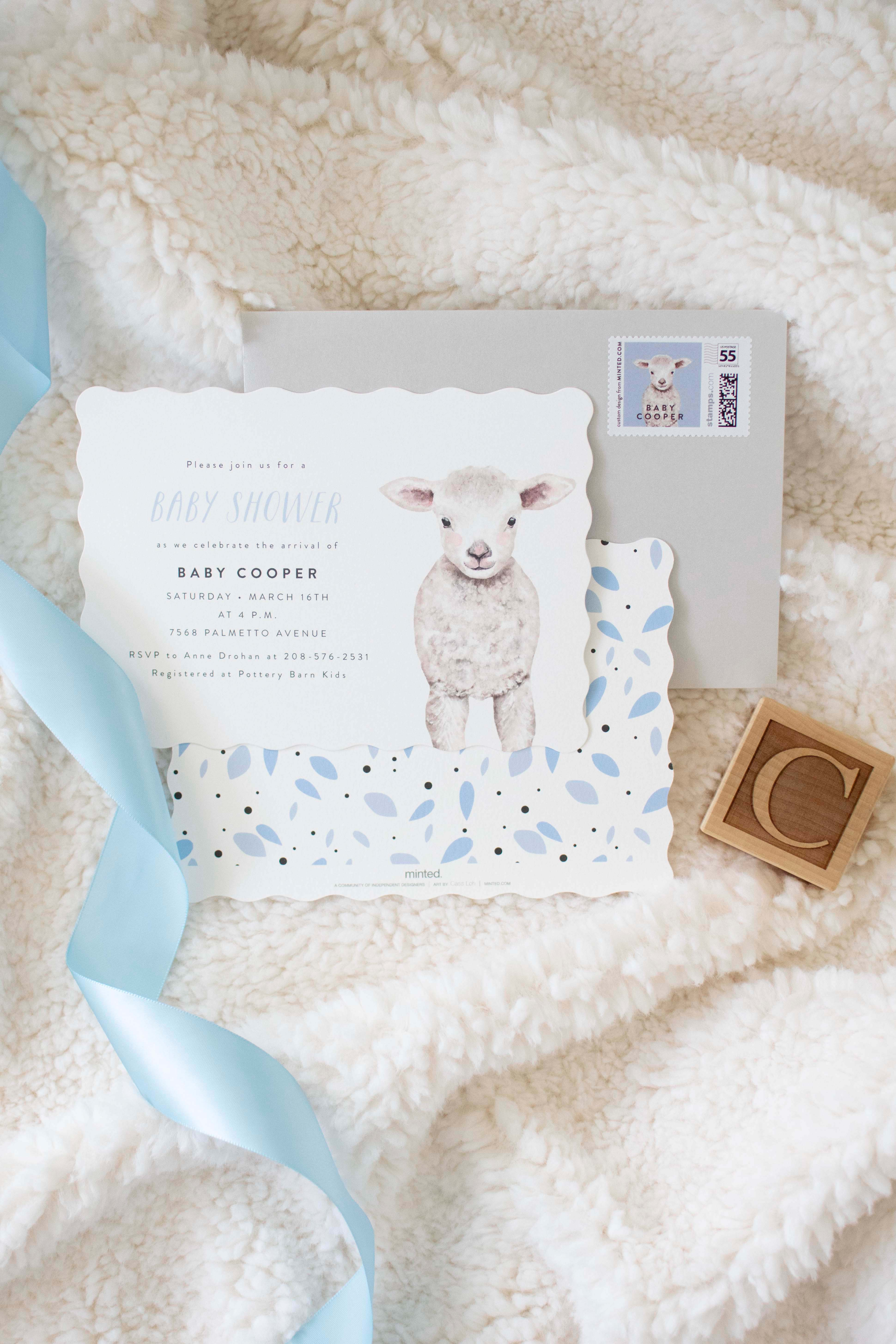 Our Sweet Little Lamb Baby Shower with Pottery Barn Kids and Minted