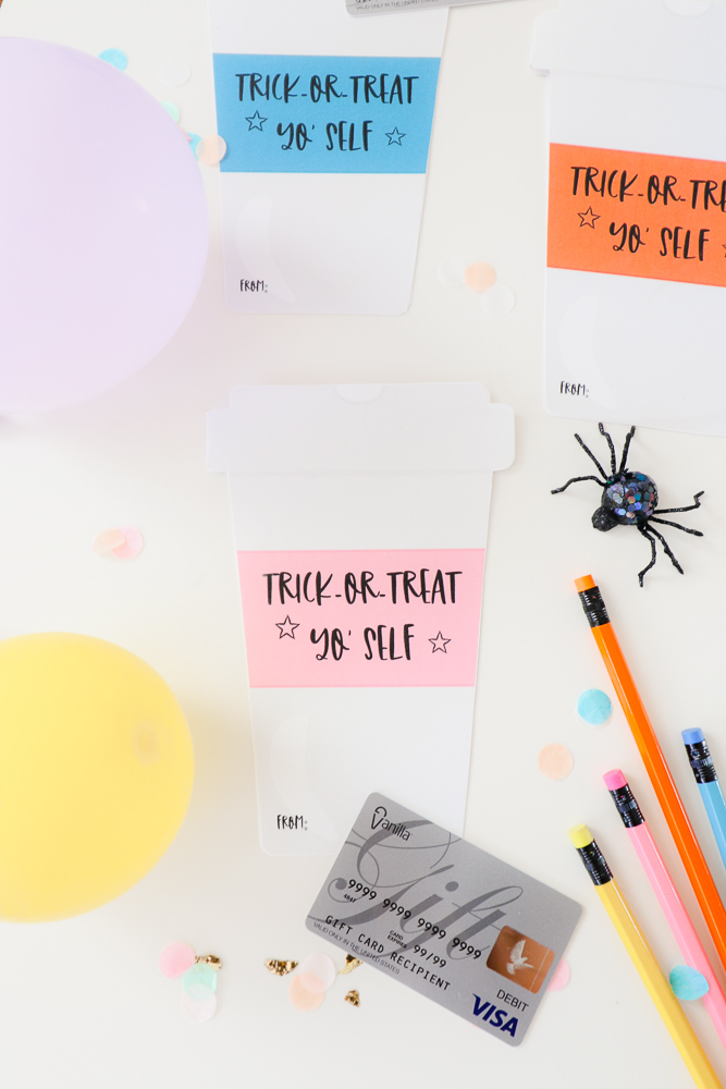 DIY Halloween Coffee Cup Gift Card Holder