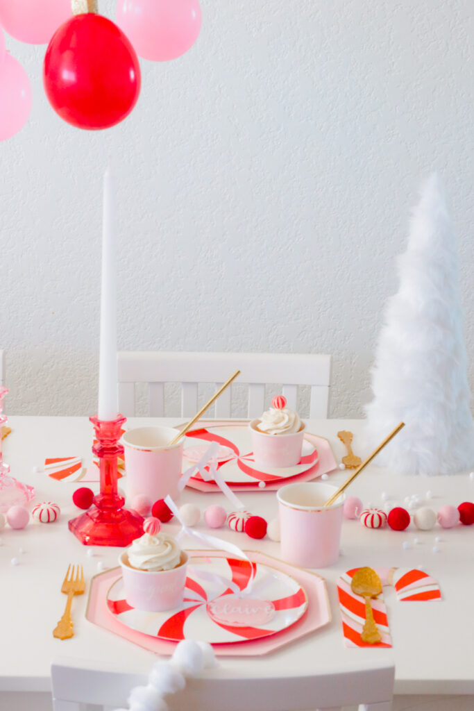 Our Holiday Cards and Peppermint Party Ideas