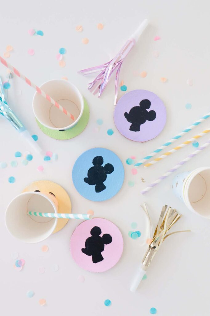 DIY Mickey Mouse Coasters
