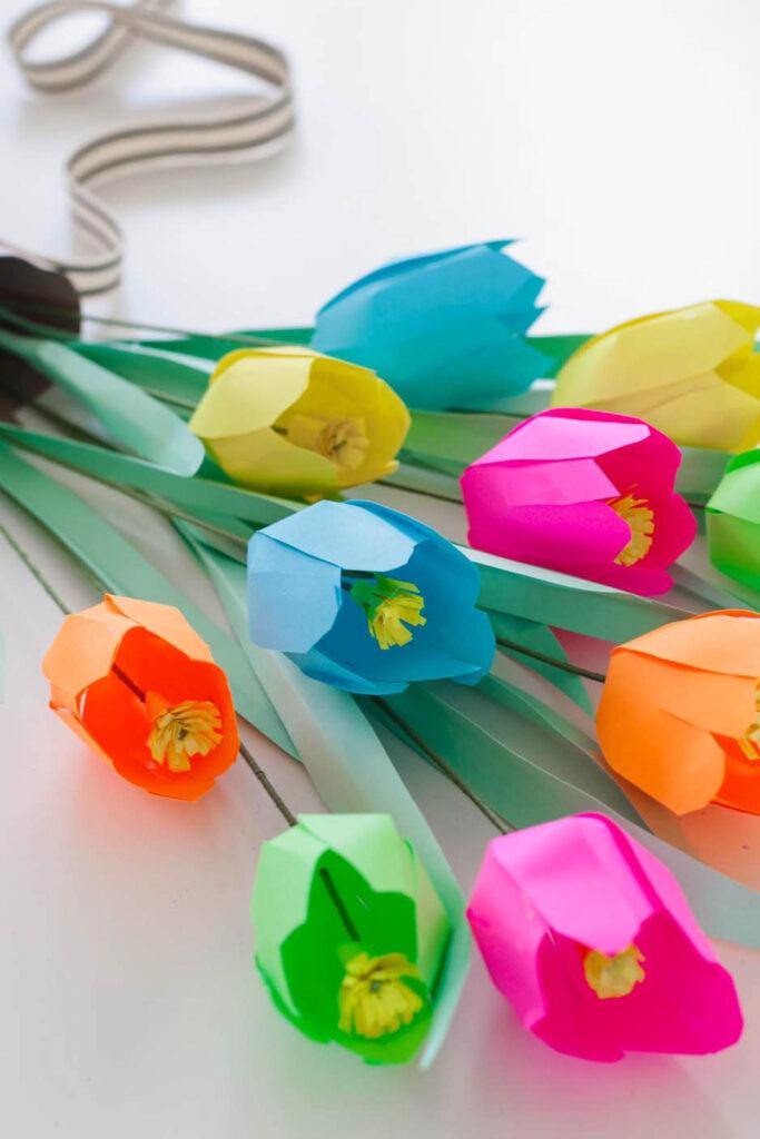 DIY Paper Tulips