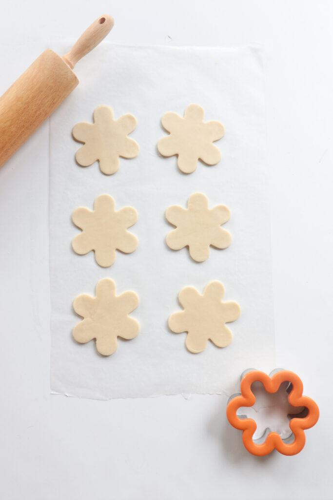 Mini Flower Shaped Passion Fruit tarts