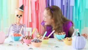 How to Set up a Spooky Halloween Cereal Bar